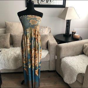 Libian - Woman's Strapless Dress  plus sized - 2XL